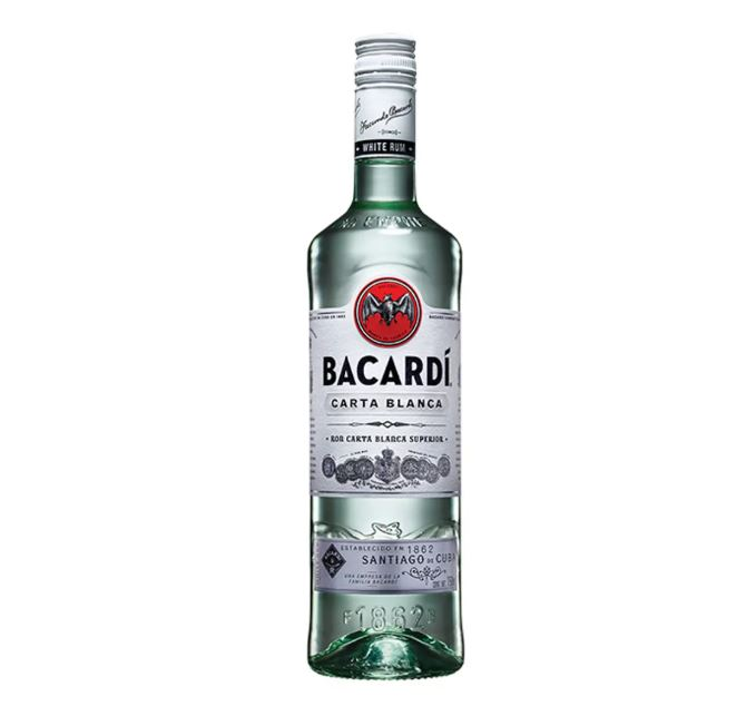 Ron Bacardí Carta Blanca 750 ml