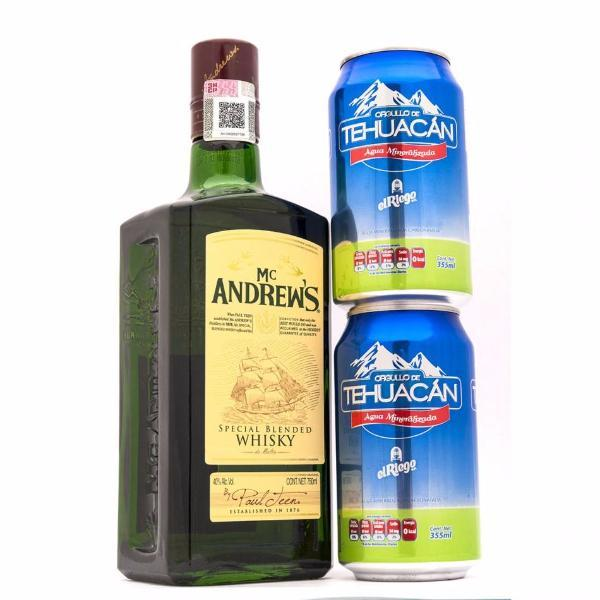 Whisky Mc Andrews + Latas 750 ml